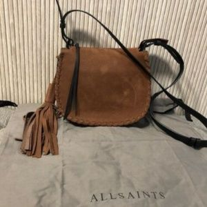 Authentic ALL SAINTS Mori Suede Crossbody Bag